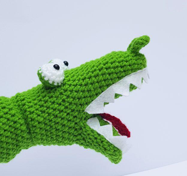 Crochet Crocodile Handpuppet - The Crochet Craft Co