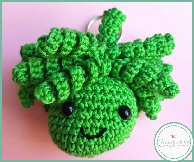 Stress Face Keyring. The Crochet Craft Co
