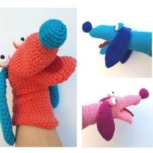 Dog handpuppet -www.thecrochetcraftco.co.uk