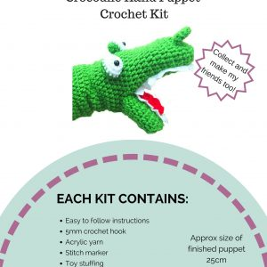 Crochet Kit - Crocodile Hand Puppet