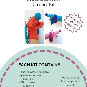 Crochet Kit - Dog Hand Puppet - The Crochet Craft Co