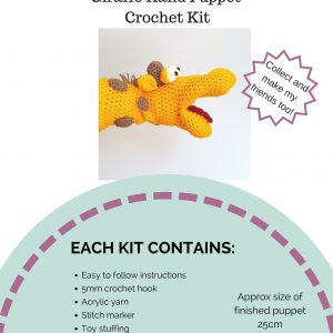 Crochet Hand Puppet Kit - Mr Giraffe from The Crochet Craft Co