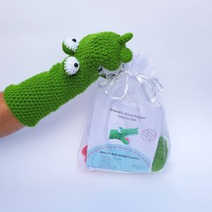 crocodile crochet kit hand puppet, the crochet craft co