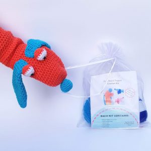 Dog crochet kit hand puppet, the crochet craft co