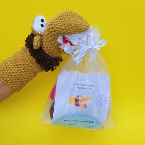 Lion crochet kit hand puppet, the crochet craft co