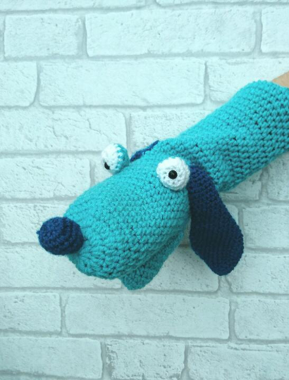 Dog handpuppet - The Crochet Craft Co