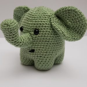 amigurumi animal - crochet elephant - the crochet craft co