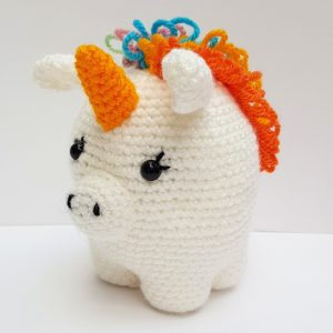 amigurumi animal - crochet unicorn - the crochet craft co