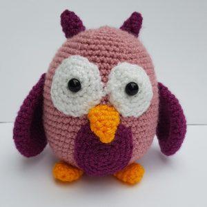 amigurumi animal - crochet owl - the crochet craft co