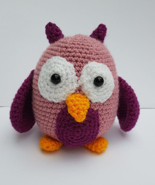 amigurumi animal - crochet owl - the crochet craft co