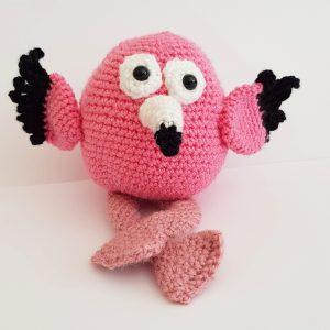 amigurumi animal - crochet flamingo - The Crochet Craft Co