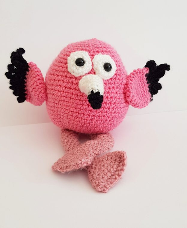 amigurumi animal - crochet flamingo - The Crochet Craft Co