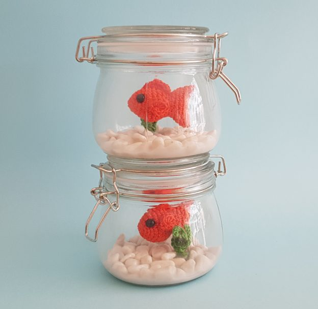 Fuss Free Fish in a Jar, Crochet Fish in a Jar, The Crochet Craft Co