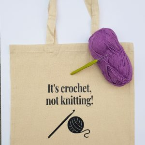 crochet tote bag, shopping bag