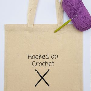 crochet tote bag, shopping bag