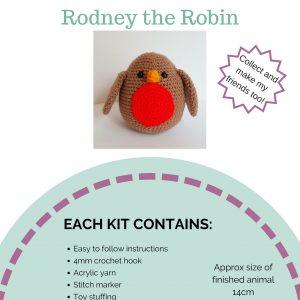 crochet creature kit, crochet robin kit, crochet craft co
