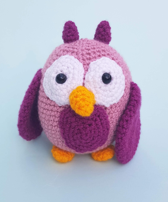 Crochet Pattern Owl Pinky Amigurumi PDF Cute Sleepy Pink Owl ...   2224x1852