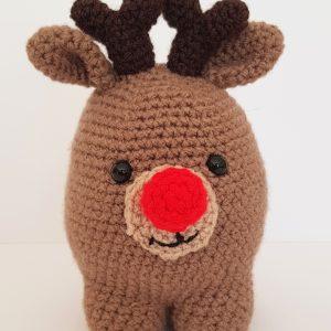 crochet creature, crochet reindeer, crochet craft co