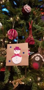 crochet christmas card, the crochet craft co