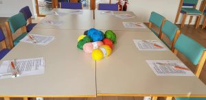 workplace wellbeing, crochet lesson