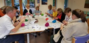 workplace wellbeing crochet lesson