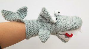 shark hand puppet, the crochet craft co