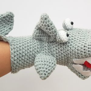 shark hand puppet, the crochet craft co