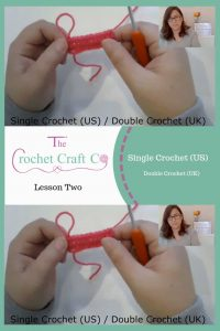 learn to crochet the single crochet, double crochet. www.thecrochetcraftco.co.uk