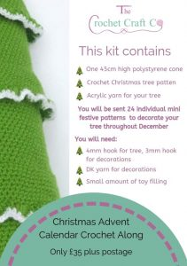 Christmas Advent Crochet Along, The Crochet Craft Co