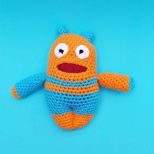 worry warrior crochet kit, the crochet craft co