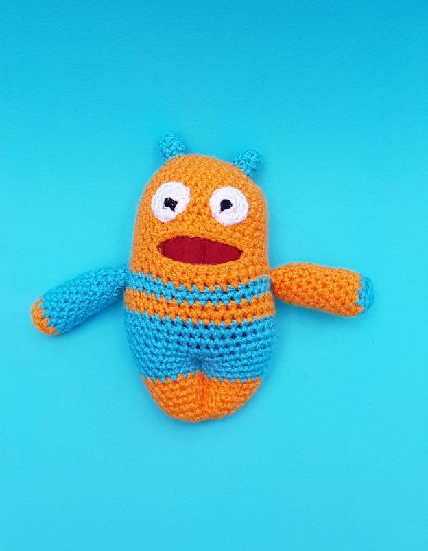 worry warrior crochet kit, the crochet craft co